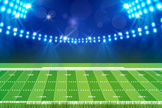 Design piatto campo da football americano Vettore gratuito