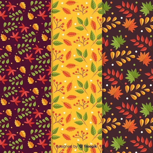 Design piatto collezione autunno modello Vettore gratuito