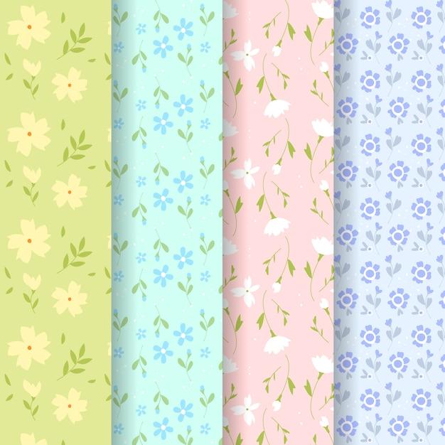 Design piatto collezione primavera modello design Vettore gratuito