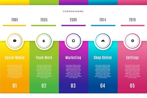 Design piatto colorato infografica passi Vettore gratuito