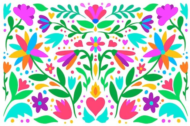 Design piatto colorato sfondo messicano Vettore gratuito