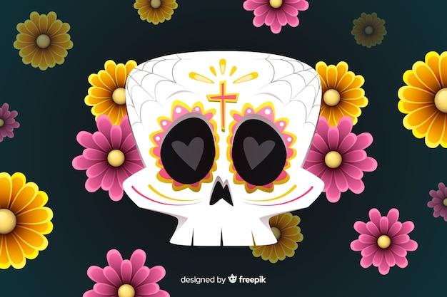 Design piatto di sfondo dia de muertos Vettore gratuito