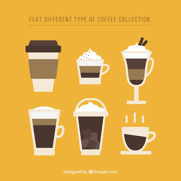 Design piatto di tazze di caff scaricare vettori gratis for Costruttore di layout gratuito