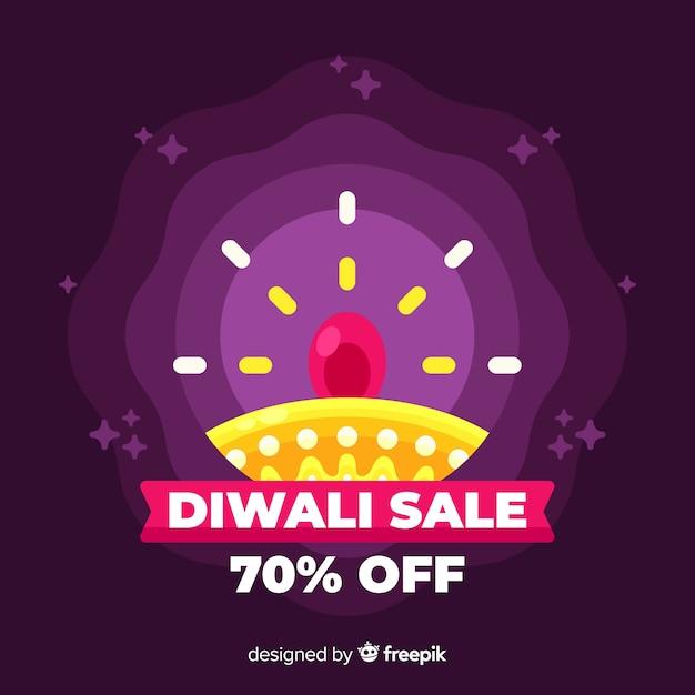 Design piatto di vendita diwali con gradiente Vettore gratuito