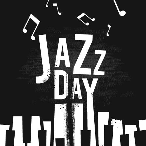 Design piatto per la giornata internazionale del jazz Vettore gratuito