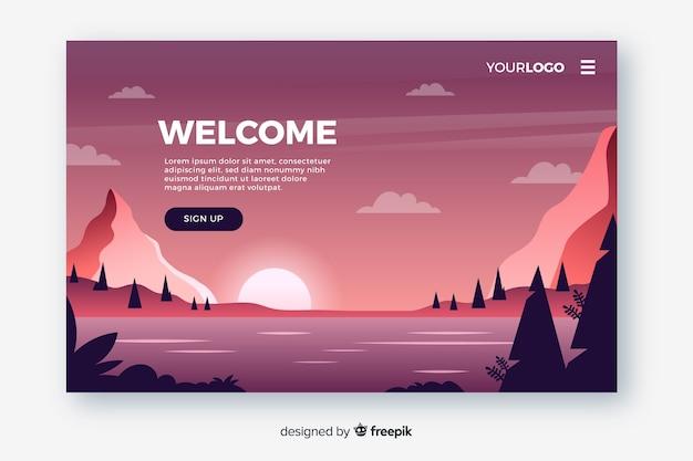 Design piatto per la pagina di destinazione Vettore gratuito