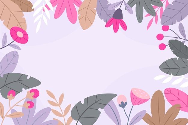 Design piatto primavera sfondo Vettore gratuito