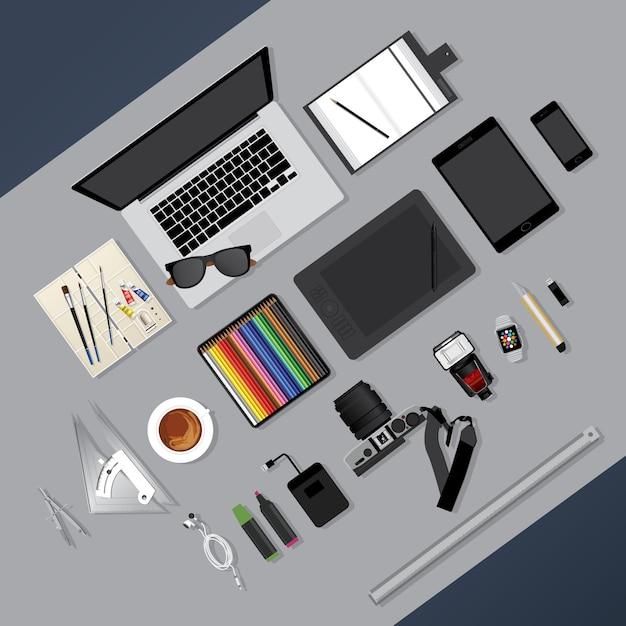 Design piatto Vettore Premium