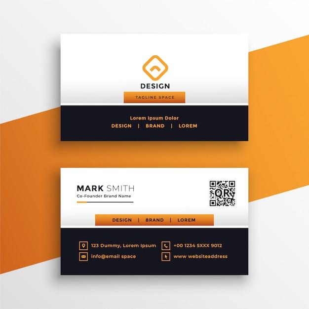 Design professionale biglietto da visita arancione Vettore gratuito