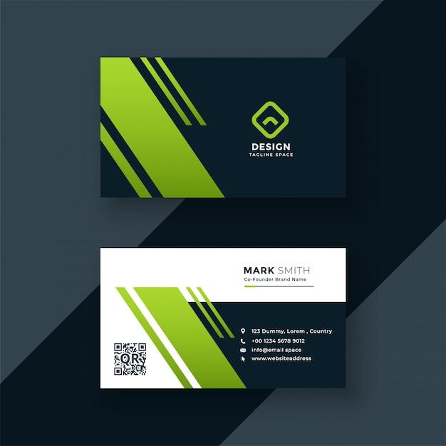 Design professionale biglietto da visita verde scuro Vettore gratuito