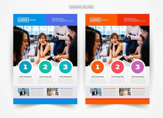 Design pubblicitario business flyer Vettore Premium