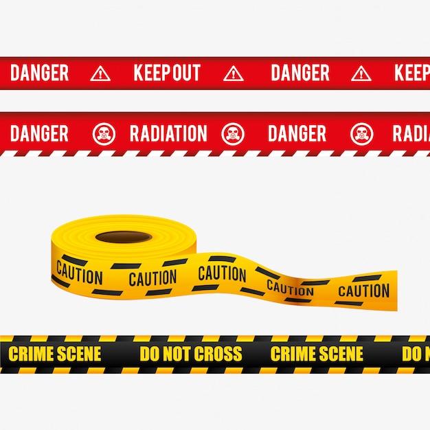 Design pubblicitario di pericolo. Vettore gratuito