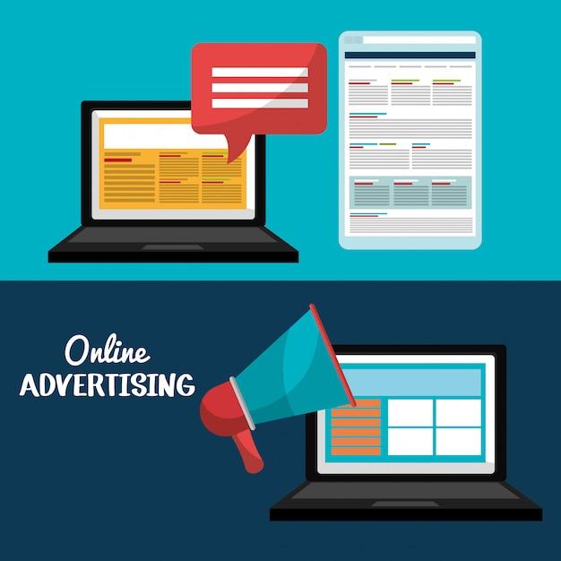Design pubblicitario online Vettore Premium