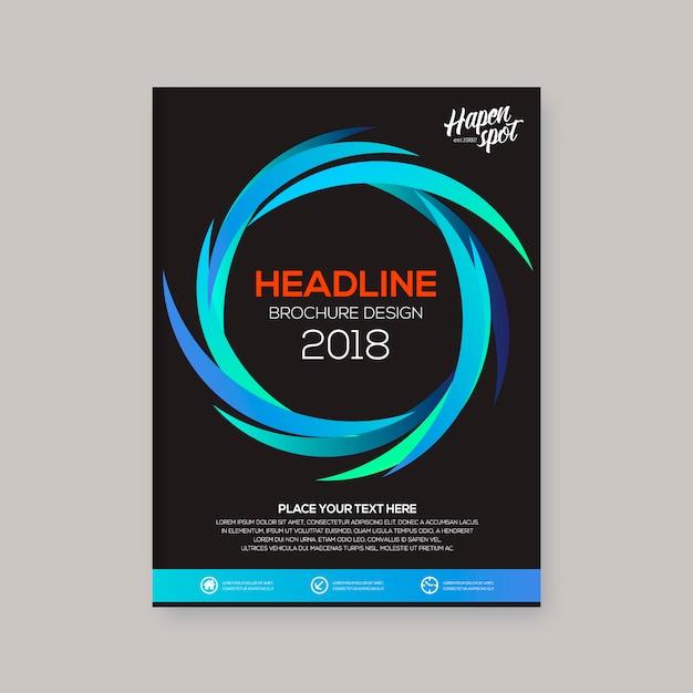 Design spirale brochure aziendale Vettore gratuito