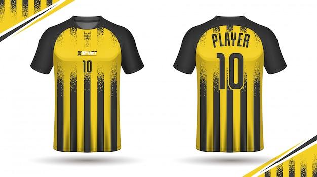 Design t-shirt da calcio Vettore Premium