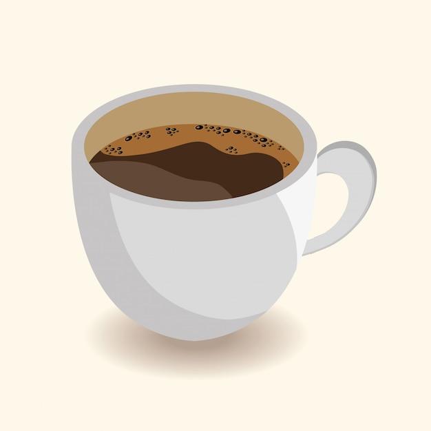 Design tazza di caffè Vettore gratuito