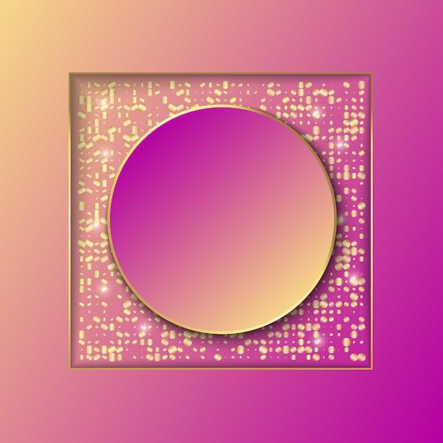 Design template sfondo banner con glitter Vettore Premium