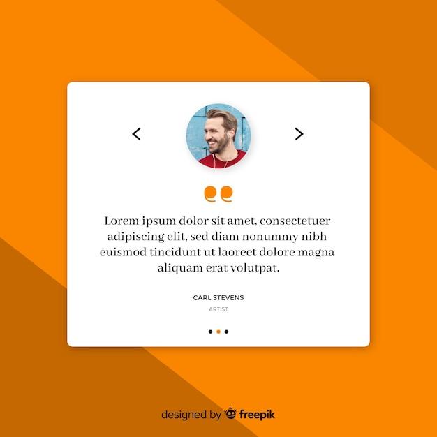Design testimonial web creativo Vettore gratuito