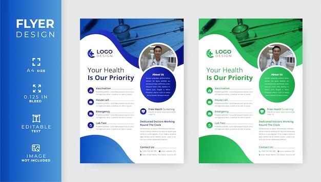 Design volantino medico Vettore Premium