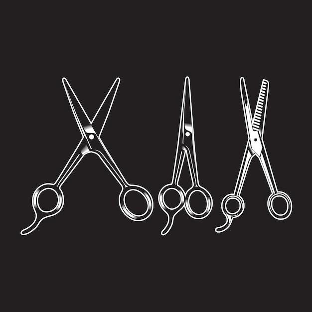 Dettagliato isolato dell'annata dell'oggetto dell'articolo del barbiere Vettore Premium