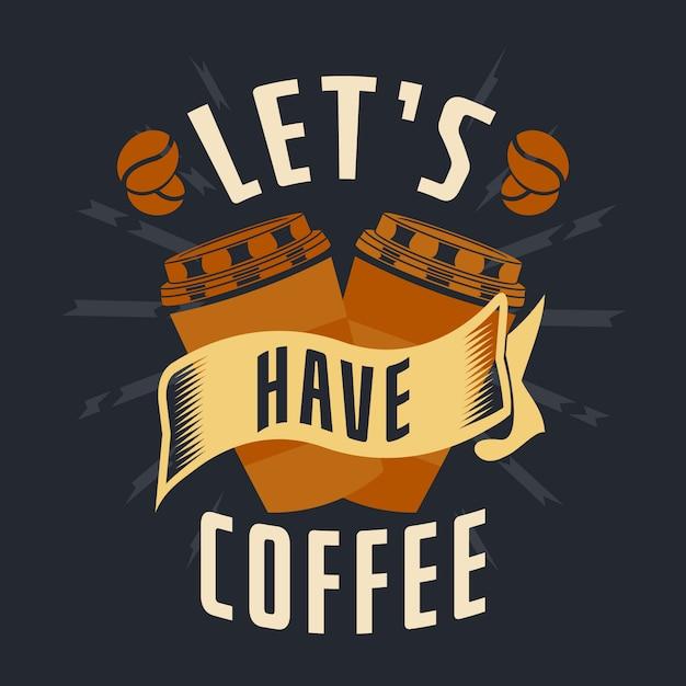 Detti e citazioni di caffè Vettore Premium