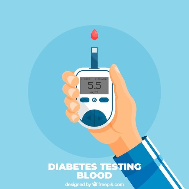 Diabete testare il sangue sfondo Vettore gratuito