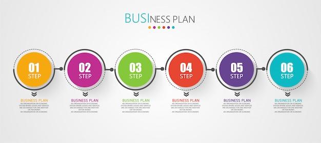 Diagramma affari utilizzati nella presentazione dell'educazione Vettore Premium