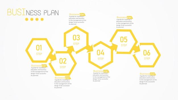 Diagramma business ed educazione illustrazione vettoriale Vettore Premium