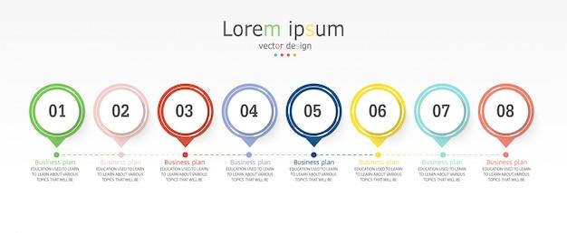 Diagramma infografica modello di business and education Vettore Premium