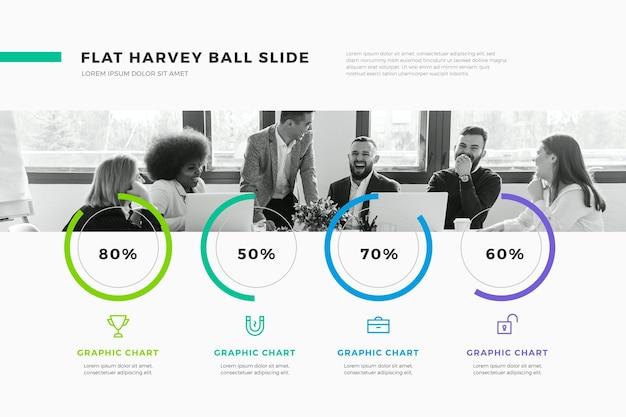 Diagrammi a sfera harvey - infografica Vettore gratuito