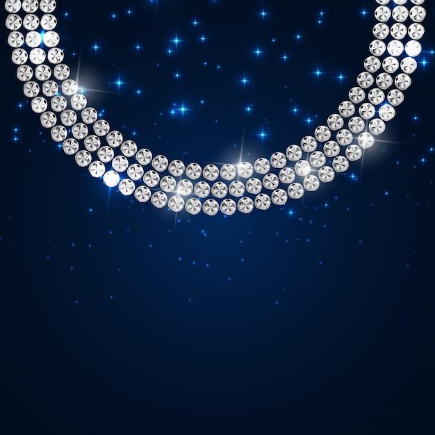 Diamond background illustration nero di lusso astratto Vettore Premium