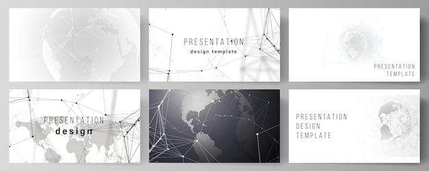 Diapositive di presentazione Vettore Premium