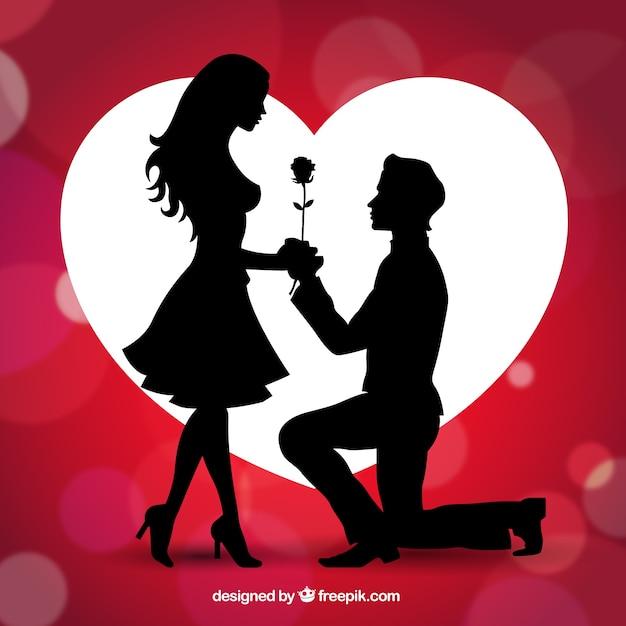 Dichiarazione d'amore Vettore gratuito