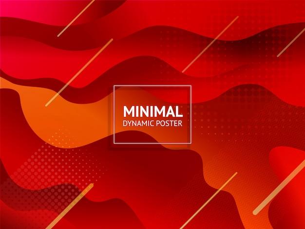Dinamico colorato vibrante vibrante sfondo colorato Vettore Premium