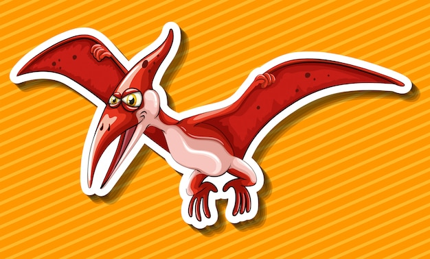 Dinosauro con ali battenti Vettore gratuito