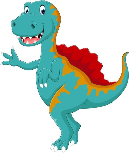 Dinosauro spinosaurus Vettore Premium