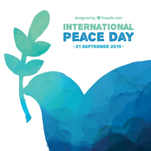 Dipinti a mano pace internazionale day background Vettore gratuito