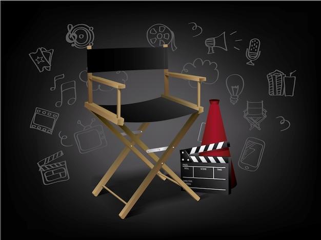 Direttore della sedia sfondo scaricare vettori premium - Sillas director de cine ...