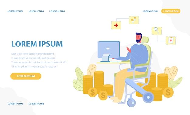 Disabilita le persone in ufficio con diverse possibilità Vettore Premium