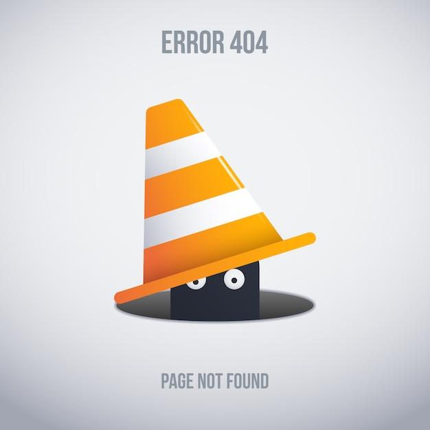 Disastro divertente 404 disegno di priorità bassa Vettore gratuito