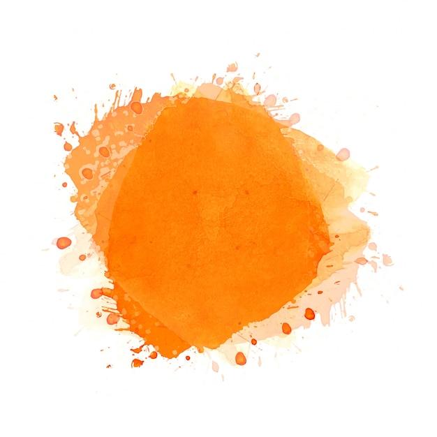 Disegnare a mano sfondo arancione splash acquerello Vettore gratuito