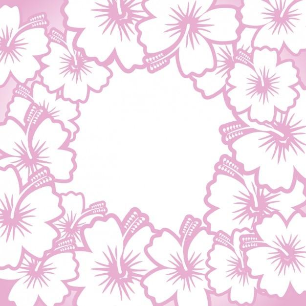 Disegnata a mano cornice fiori Vettore gratuito