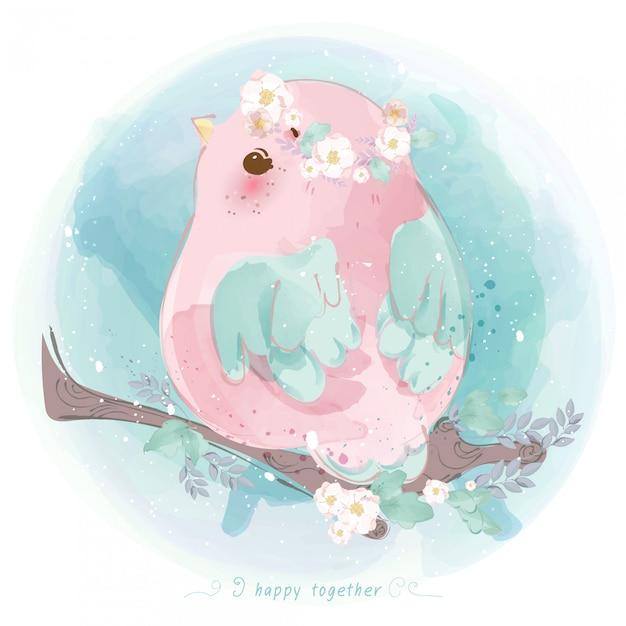 Disegnata a mano linea parade doodle carino in animaletti che giocano dolcetto o scherzetto a halloween Vettore Premium