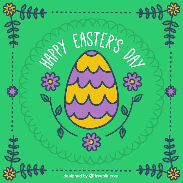 Disegnata a mano uova di pasqua scaricare vettori gratis - Uova di pasqua decorati a mano ...