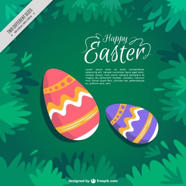 Disegnati a mano le uova di pasqua scaricare vettori gratis - Uova di pasqua decorati a mano ...