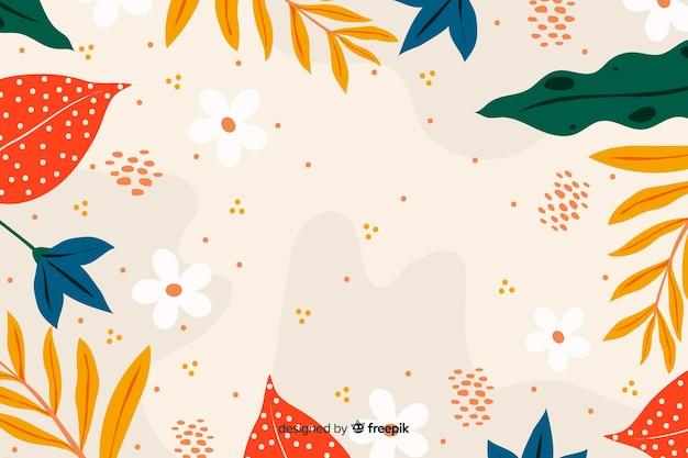 Disegnato a mano astratto sfondo floreale Vettore gratuito
