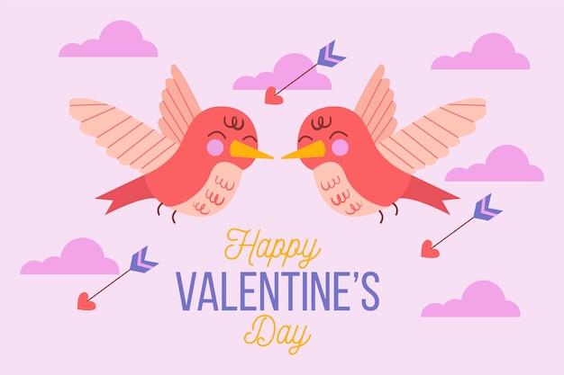 Disegnato a mano carino sfondo di san valentino Vettore gratuito