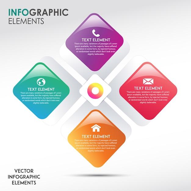 Disegni astratti di infographic Vettore gratuito