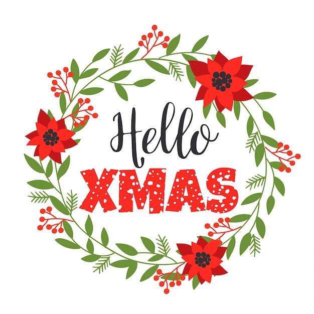 Disegni Di Natale Vettoriali.Disegni Di Lettering Di Natale Elementi Vettoriali