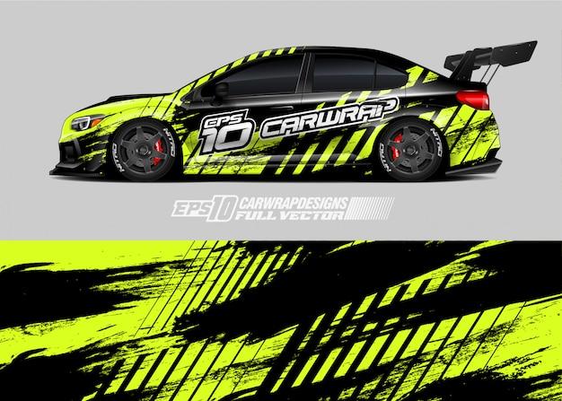 Disegni di livrea per auto da rally Vettore Premium